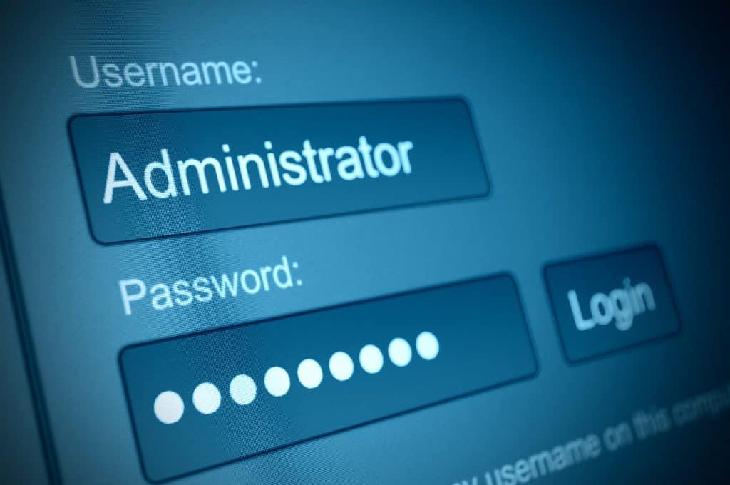 Login gebruikersnaam - wachtwoord
